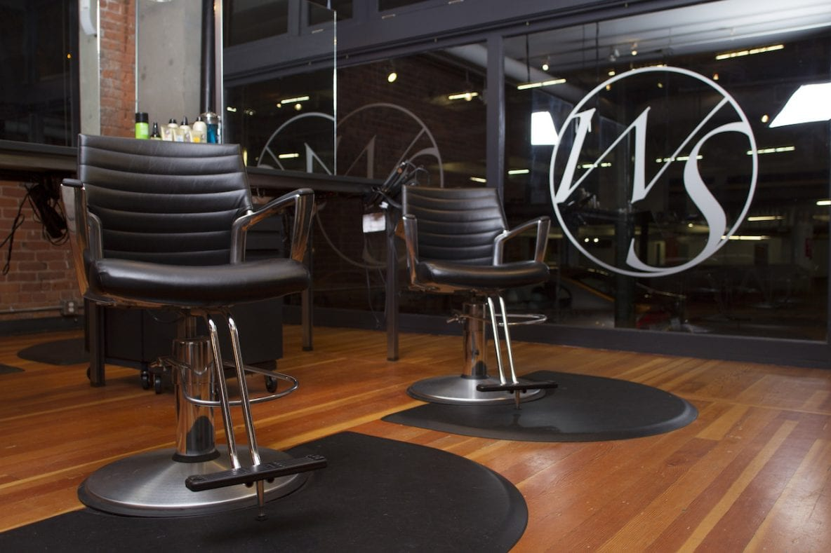 close up of barber chair